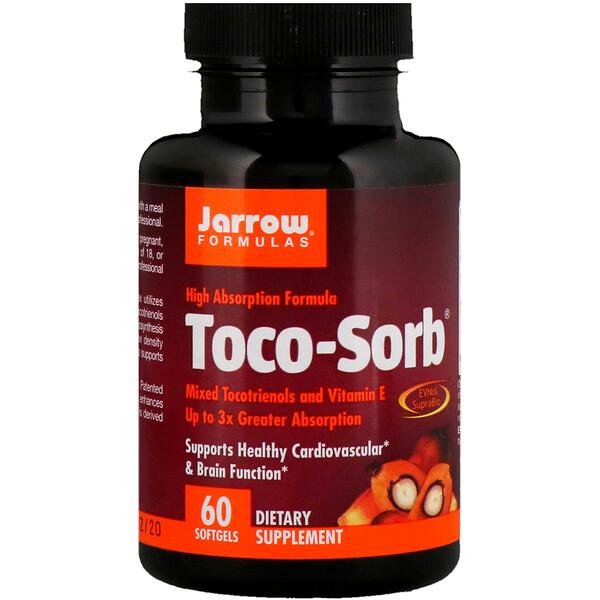 Toco-Sorb, смесь токотриенолов и витаминаЕ, 60мягких таблеток