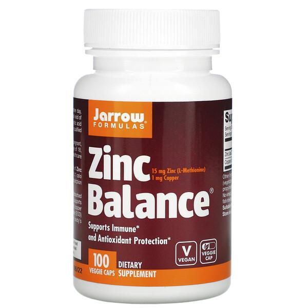 Jarrow Formulas, Zinc Balance, 100вегетарианских капсул