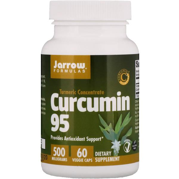 Curcumin 95, 500 мг, 60 растительных капсул