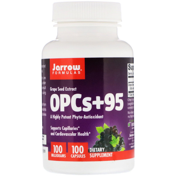 OPCs + 95, Экстракт семян винограда, 100 мг, 100 капсул