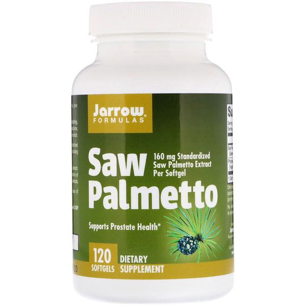 Jarrow Formulas, Saw Palmetto, 160 мг, 120 мягких желатиновых капсул