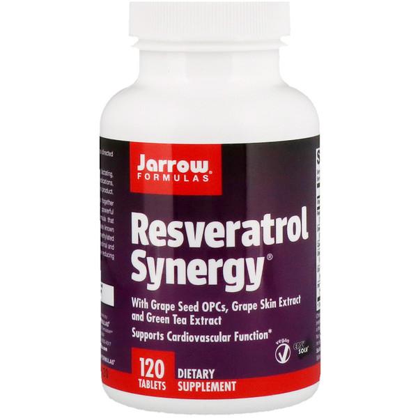 Jarrow Formulas, Resveratrol Synergy®, 120 таблеток