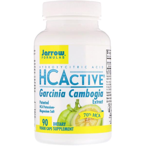 HCActive, экстракт гарцинии камбоджийской, 90 овощных капсул