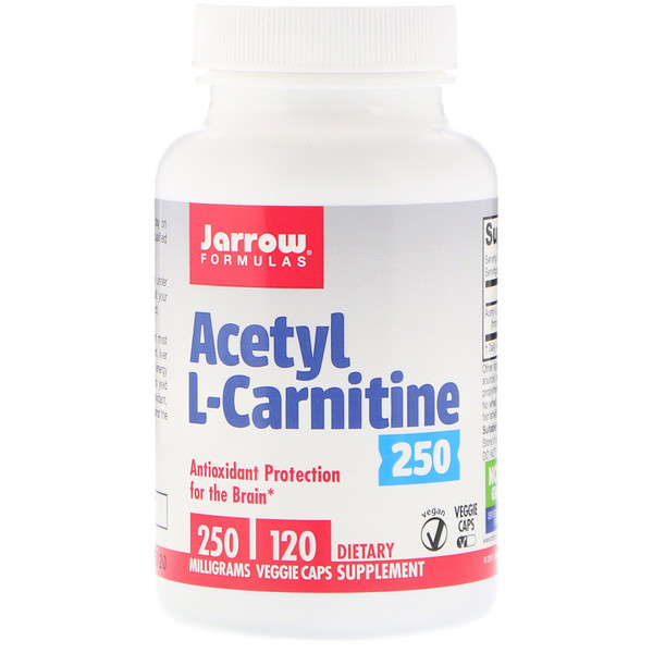 Acetyl L-Carnitine, 250 mg, 120 Veggie Caps
