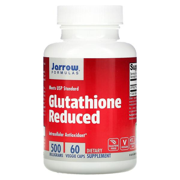 Jarrow Formulas, Глутатион восстановленный, 500 мг, 60 растительных капсул