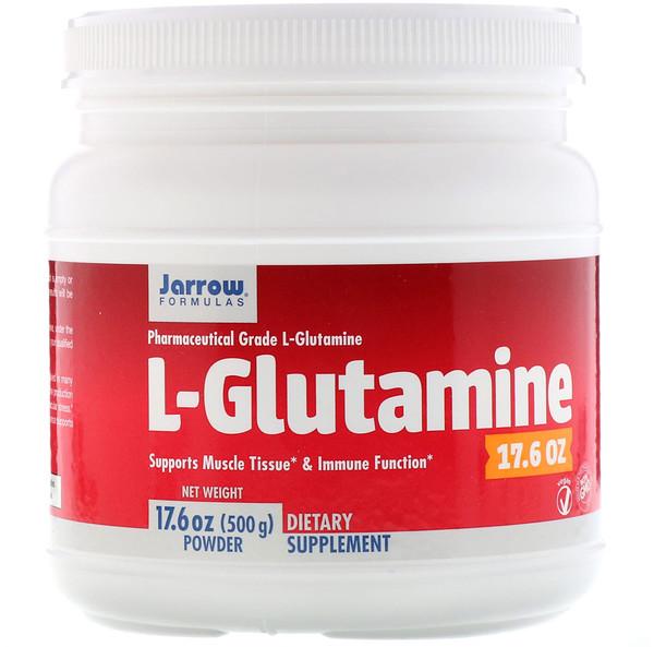 L-глютамин в виде порошка, 500г (17,6унции)
