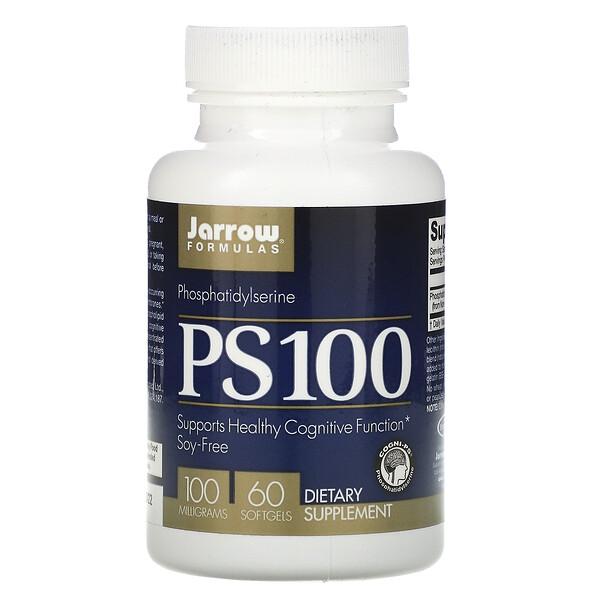 PS 100, Фосфатидилсерин, 100 мг, 60 гелевых капсул