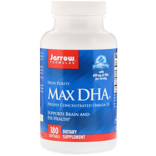 Max DHA, 180 мягких желатиновых капсул