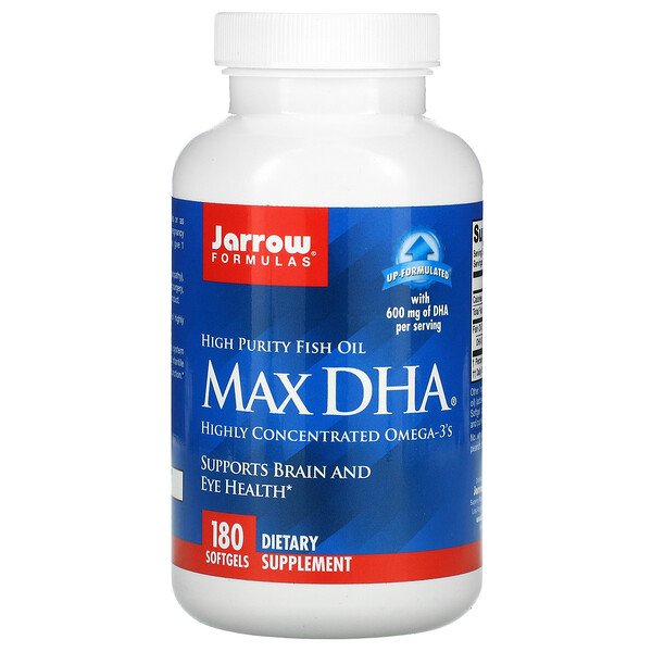 Jarrow Formulas, Max DHA, 180 мягких желатиновых капсул