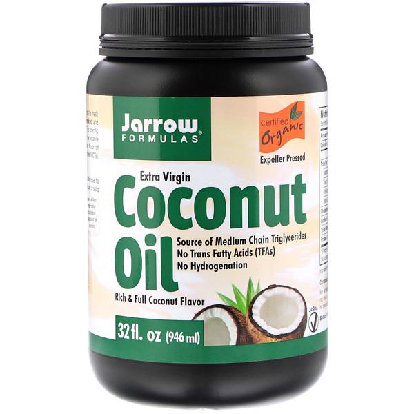 Органический продукт, кокосовое масло холодного отжима, полученное методом холодного прессования, 946 мл