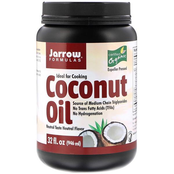 Органическое кокосовое масло, выжато шнековым прессом, 946 мл (32 жидких унции)