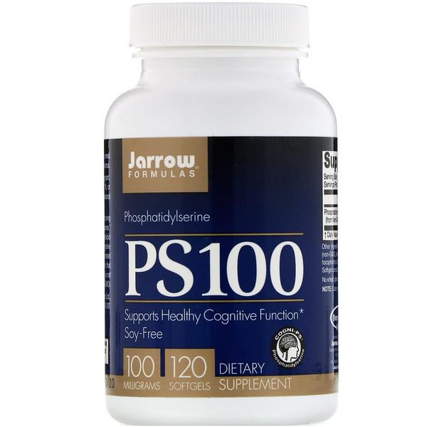 PS 100, фосфатидилсерин, 100 мг, 120 мягких таблеток