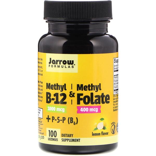 Метил B-12 и метилфолат со вкусом лимона, 1000 мкг / 400 мкг, 100 леденцов