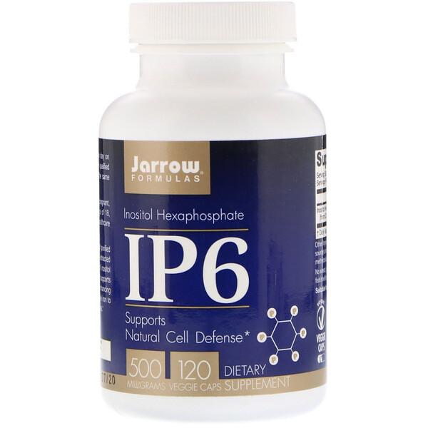 IP6, гексафосфат инозитола, 500 мг, 120 растительных капсул