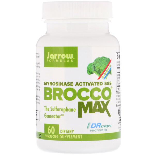 Jarrow Formulas, BroccoMax, активированный мирозиназой SGS, 60 растительных капсул