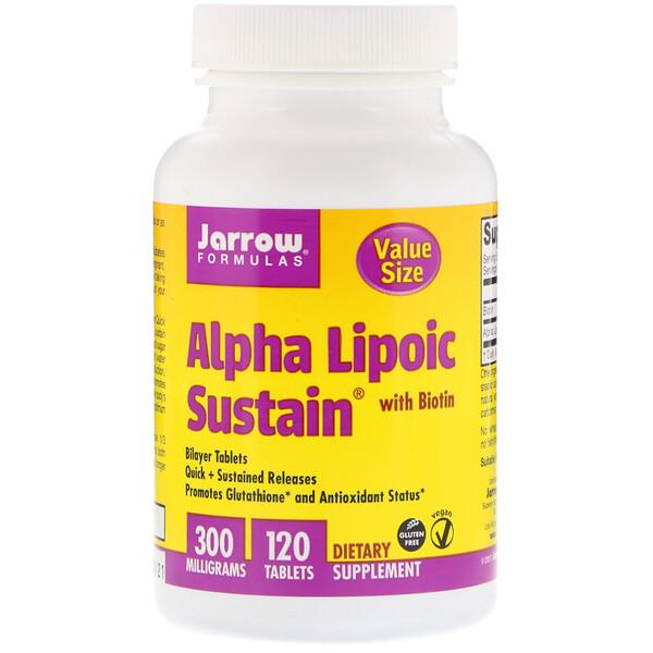 Alpha Lipoic Sustain with Biotin, 300 mg, 120 Tablets