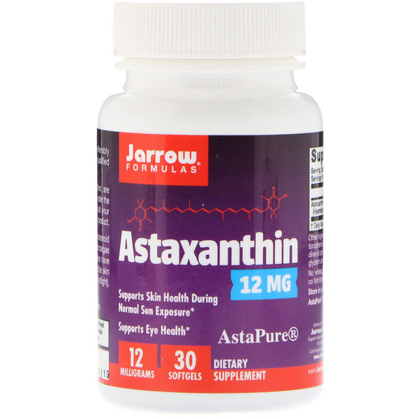 Астаксантин, 12 мг, 30 мягких желатиновых капсул
