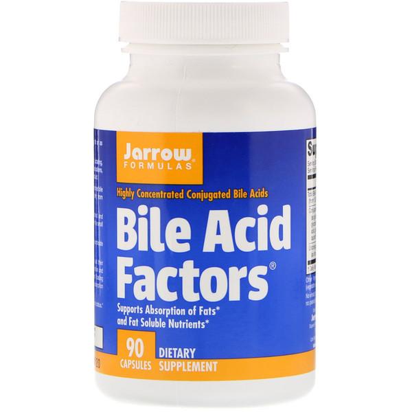 Jarrow Formulas, Bile Acid Factors, 90 капсул