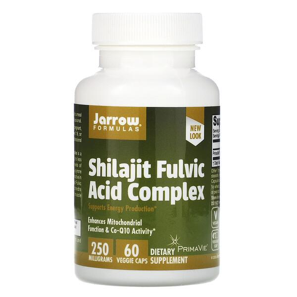 Jarrow Formulas, Комплекс с мумие и фульвокислотой, 250 мг, 60 вегетарианских капсул