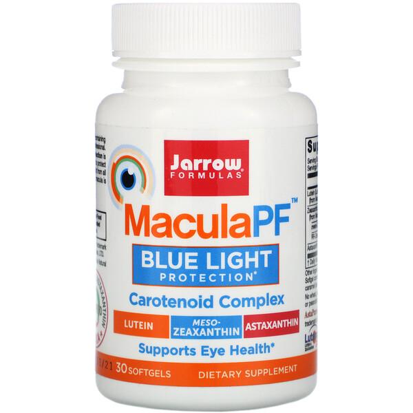 Jarrow Formulas, MaculaPF, защита от синего света, 30 мягких желатиновых капсул