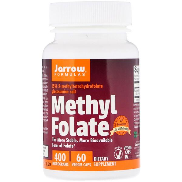Метилфолат, 400 мкг, 60 вегетарианских капсул