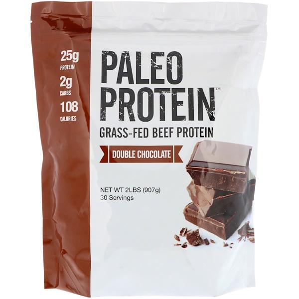 Палеобелок, протеин белок из мяса коров на травяном откорме, двойной шоколад, 907 г