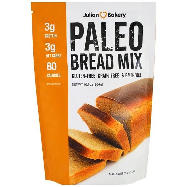 Julian Bakery, Палео-микс для выпечки хлеба, 304 г (10,7 унции)