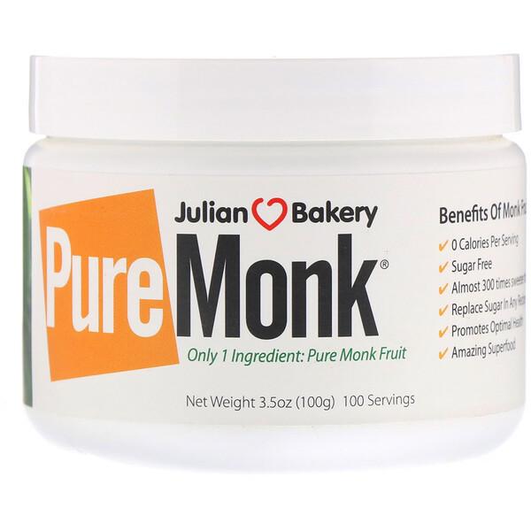 Julian Bakery, обезьяний фрукт, 100 г (3,5 унции)
