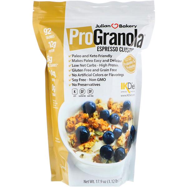 Гранола Pro, кластер эспрессо, 17,9 унции (510 г)