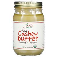 Jiva Organics, Raw Cashew Butter, Creamy - Unsalted, 16 oz (456 g)