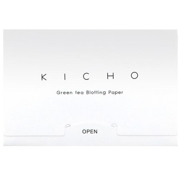 Kicho, Промокательная бумага с зеленым чаем, 50 штук (Discontinued Item)