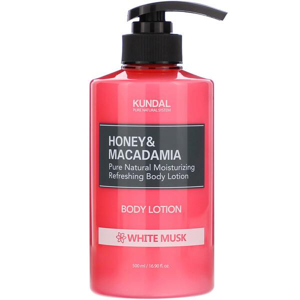 Honey & Macadamia, Body Lotion, White Musk, 16.90 fl oz (500 ml)