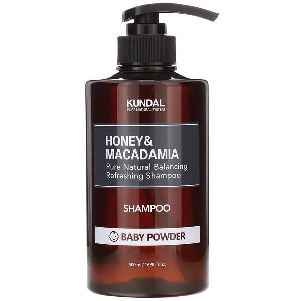 Honey & Macadamia, Shampoo, Baby Powder, 16.90 fl oz (500 ml)