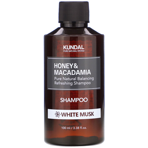 Kundal, Honey & Macadamia, Shampoo, White Musk, 3.38 fl oz (100 ml)