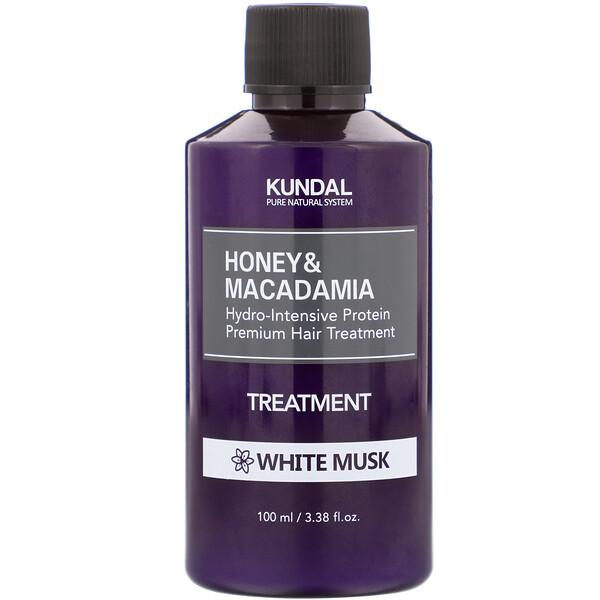 Kundal, Honey & Macadamia, Treatment, White Musk, 3.38 fl oz (100 ml)