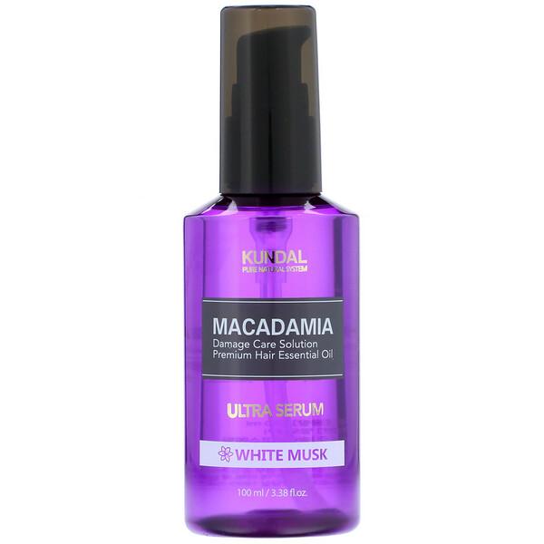 Macadamia, Ultra Serum, White Musk, 3.38 fl oz (100 ml)
