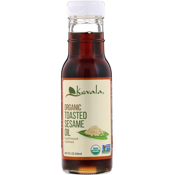 Органическое темное кунжутное масло, 8 жидких унций (236 мл)