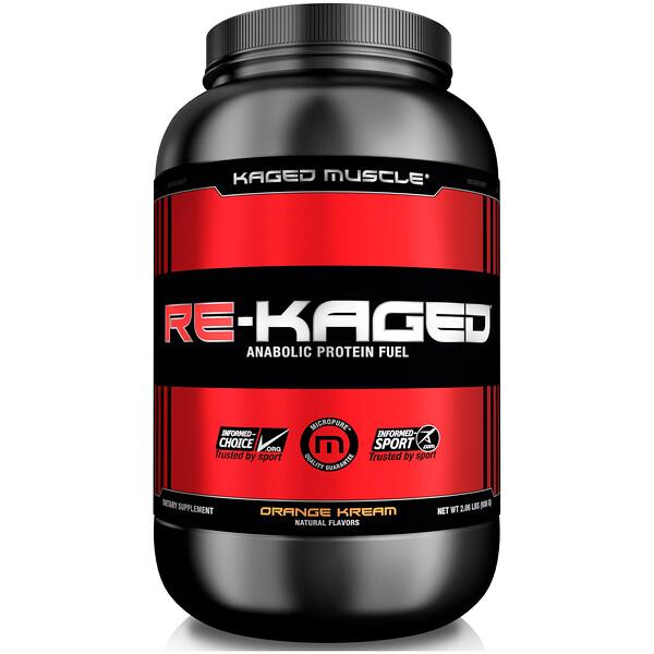 Re-Kaged, протеиновый анаболический стероид, сливки с апельсином, 936 г (2.06 lbs)