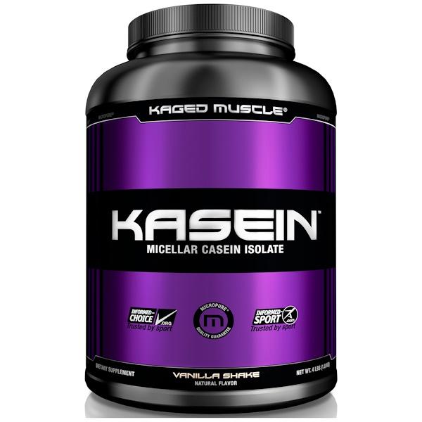 Kaged Muscle, Казеин, мицеллярный, ванильный коктейль, 4 фунта (1,8 кг) (Discontinued Item)