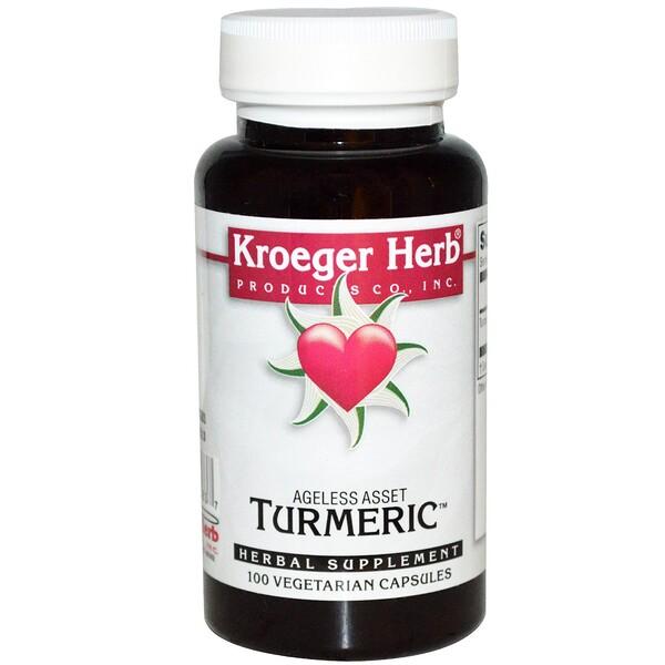 Kroeger Herb Co, Turmeric, 100 растительных капсул