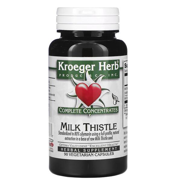 Complete Concentrates, Milk Thistle, 90 Vegetarian Capsule