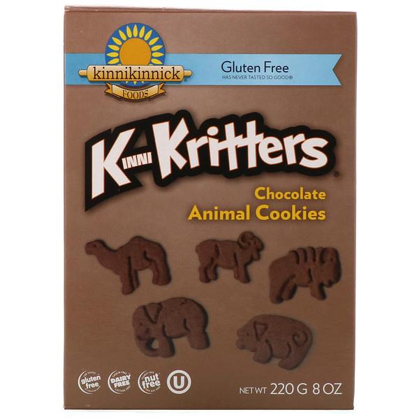 Kinnikinnick Foods, KinniKritters, шоколадное печенье в форме животных, 8 унций (220 г) (Discontinued Item)
