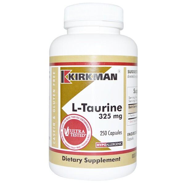 L-таурин, 325 мг, 250 капсул