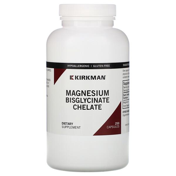 Magnesium Bisglycinate Chelate, 250 Capsules