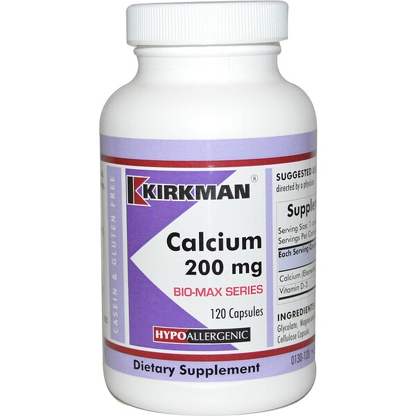 Кальций Био-Макс, 200 мг, 120 капсул