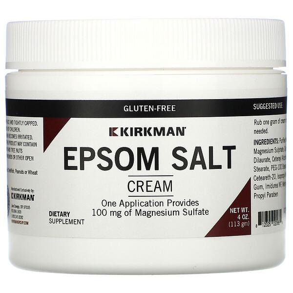 Kirkman Labs, крем с английской солью, 113г (4унции)