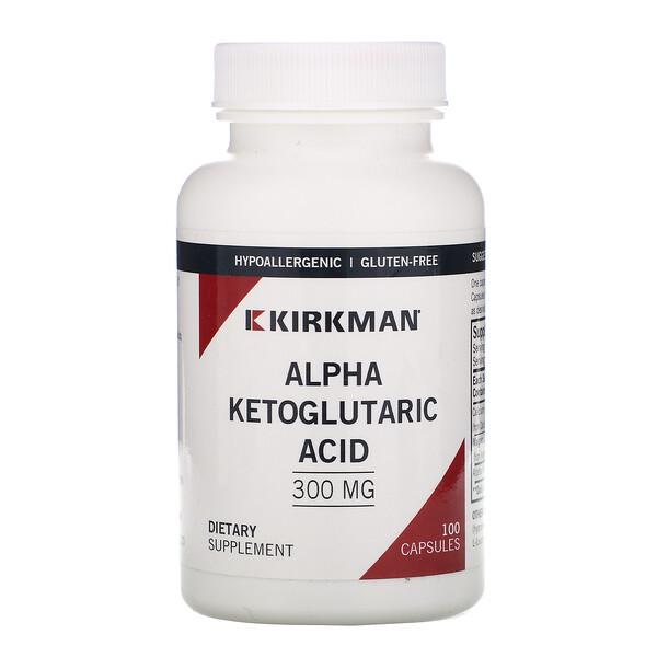 Альфа-кетоглутаровая кислота, 300 мг, 100 капсул