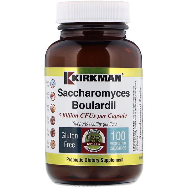 Kirkman Labs, Saccharomyces Boulardii, 3 миллиарда, 100 вегетарианских капсул