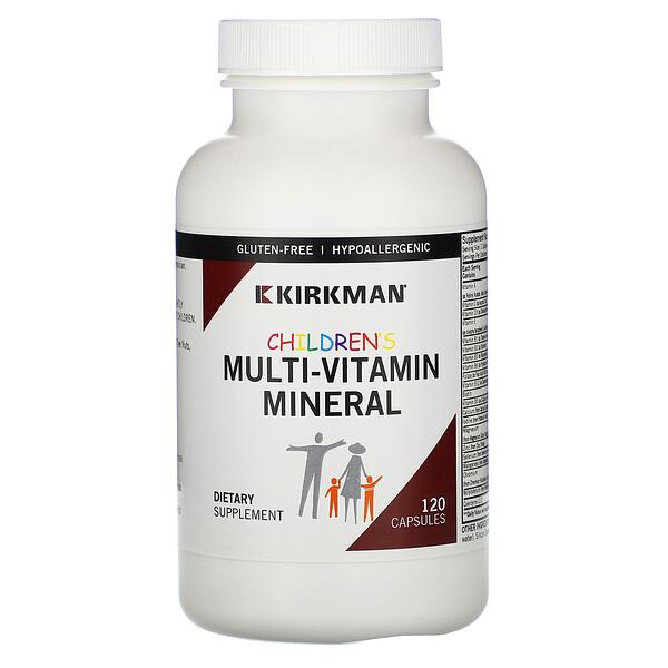 Kirkman Labs, Children's Multi-Vitamin Mineral, 120 Capsules