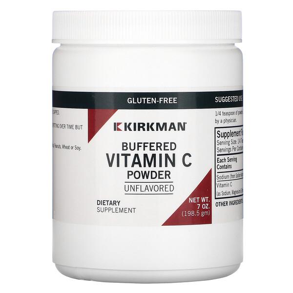 буферизованный порошок витаминаC, с нейтральным вкусом 198,5г (7унций)